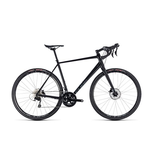 GRAVEL Bike Cube nuroad Pro black' N 'Grey 2018 – 50 cm (Tapered Cube)