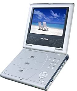 Hyundai HPD719 - 7inch Multi Region LCD portable DVD Player -Silver with Divx +Free Carry Case