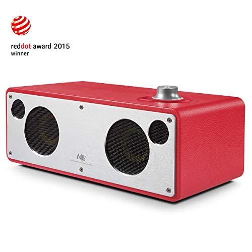 GGMM M3 Airplay Lautsprecher, Wi-Fi- & Bluetooth-Lautsprecher Multiroom, 40W APT-X (Rot)
