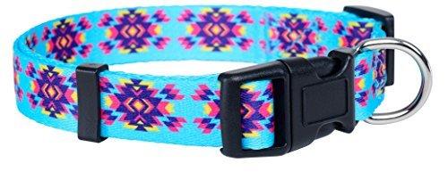 Native Pup Azteken Hund Collar- Tribal Hund Collar- Designer-Halsband, Small, Grün/Schwarz