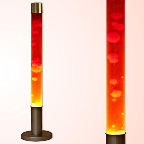 """Dekorative XXL """"Alan"""" 76 cm hohe Lavalampe Stehleuchte in orange rot Magmalampe / inklusive Leuchtmittel / Kabelschalter / Lavaleuchte"""