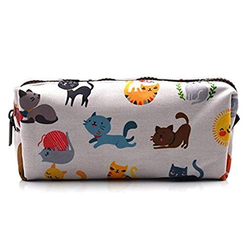 Cute Cat Pencil Case Kids Pouch Back to School Teacher Gift Gadget Bag Make Up Case Cosmetic Bag