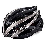 YOVYO Casque de vélo avec Casques réglables de Montagne de visière démontable pour Les Hommes Adultes Plein air d'équitation de Sport en Plein Exercice entièrement CE/CPSC certifié, L/XL