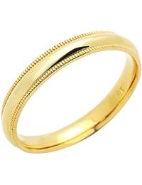 Kleine Schätze - 14 Karat (585) Gelbgold Ring Ehering / Trauring / Partnerring - (Breite 3MM)