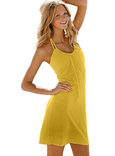 Kurzen Strandkleid Gelb