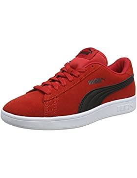 Puma Smash V2 SD Jr, Zapatillas Unisex Niños, Rojo (Ribbon Red Black 10), 37.5 EU