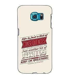 Fuson Designer Back Case Cover for Samsung Galaxy S6 Edge+ :: Samsung Galaxy S6 Edge Plus :: Samsung Galaxy S6 Edge+ G928G :: Samsung Galaxy S6 Edge+ G928F G928T G928A G928I (Life is just a list of )