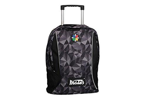 MATES 18 Zaino ragazzo ragazza nero borsa scuola tempo libero con trolley VZ833