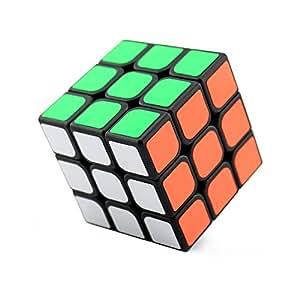 wings of wind - 3x3x3 Ultra-Smooth Magic Puzzle Cubo Colorato Sticker Cube (Nero), GuanLong