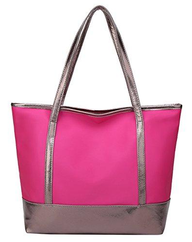 Tibes dames voyagent sac à bandoulière grandes hobos sac à main sac fourre-tout Rose