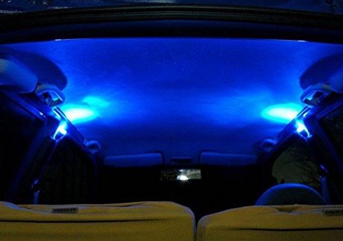Preisvergleich Produktbild Hypersonic® HP2295 SET Dimmbare Universelle Stylische LED Leuchten BLAU Innenlampe Auto Zusatzbeleuchtung Leseleuchte Innenraumbeleuchtung Fußraumbeleuchtung Tuningleuchte 12V Anschluss 4Meter Kabel