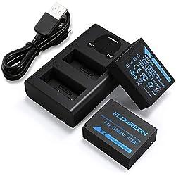 NP-W126S NP-W126 Batterie de Rechange 2-Pack Chargeur avec Double USB et L'Affichage LCD pour Fujifilm FinePix X-A1, X-A2, X-E1, X-E2, X-H1, X-M1, X-Pro1, X-T1, X-T2, HS30EXR, HS35EXR et Plus