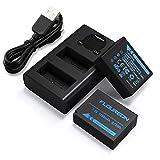 NP-W126S NP-W126 Fujifilm 2*Batería de Repuesto y Smart LED Cargador Dual USB para Fujifilm FinePix HS30EXR HS35EXR HS50EXR X-A1 X-A2 X-E1 X-H1 X-M1 X-Pro1 T1 X-T2 y más