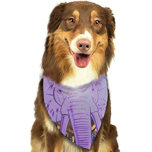 Sdltkhy Elephant Pet Scarf Dog Bandana Bibs Triangle Head Scarfs (Elephant Head Kostüm)