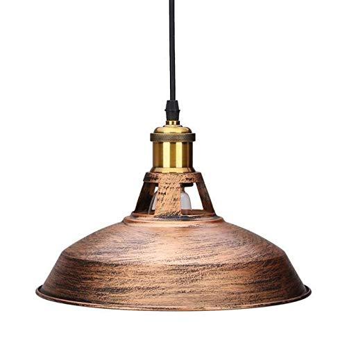 Métal Rétro Suspensions Luminaires Vintage Plafonniers Industriel Lustre Abat-jour 27cm Eclairage de Plafond Décoration, Bronze