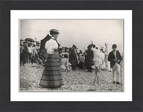 Framed Print Of C.1895 Seaside Outfit