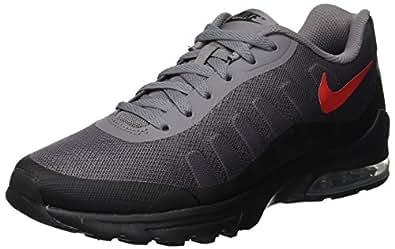 f7de3d3c89 Nike Men's AIR MAX Invigor Print Gunsmoke/Uni.Red Running Shoes-7 ...