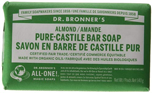 Dr Bronner'S | Almond Pure Castile Bar Soap | 1 x 140g