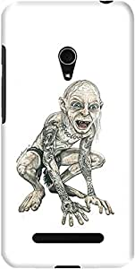 zenfone 5 back case cover ,Gollum Inked Designer zenfone 5 hard back case cover. Slim light weight polycarbonate case with [ 3 Years WARRANTY ] Protects from scratch and Bumps & Drops.