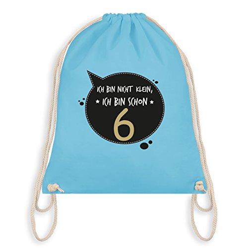 Compleanno Bambino - Io Non Sono Piccola, Sono Già 6 - Borsa Da Palestra Borsa Da Ginnastica Blu Chiaro