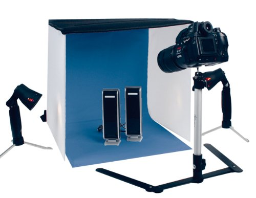 Digital Photo Cube (König Mini Fotostudio (2 Lichtstative mit Lampen, 1 Tasche, 1 Kamerastativ))