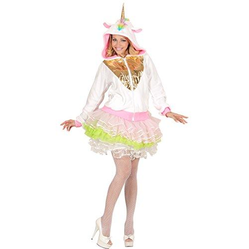 NET TOYS Einhorn Kapuzenjacke Unicorn Kostüm Fleece L/XL Fantasy Hoodie Straßenkarneval Märchen Faschingskostüm Damen (Fantasy Einhorn Kostüm)