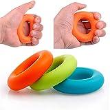 1 STÜCK Stärke Finger Handgriff Muscle Power Training Gummiring Exerciser Silikon Palm grib Kreis Fitness toll Drop Shipping