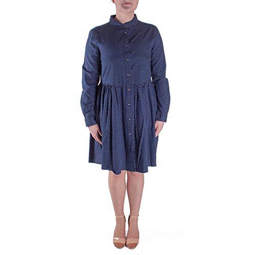 French Connection Women's Indigo Cross LS Gthrd Shrt DRS Dress