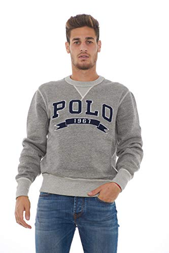 Polo Ralph Lauren Sudadera Vintage Fleece Gris (x-Larga)