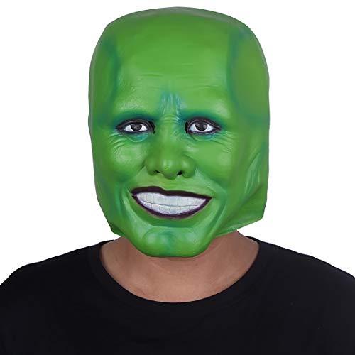 grau.zone originelle Party-Maske The Green Mask für Halloween Karneval Fastnacht