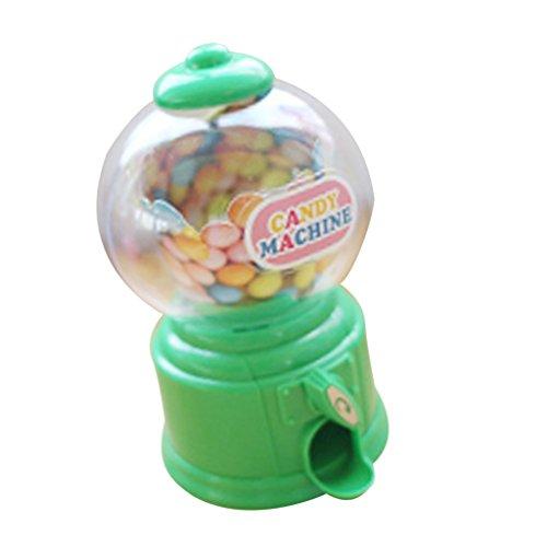 Sharplace Coin Bank Dispenser Gumball Machine in Plastica ABS Articoli da Regalo e Scherzetti - Verde