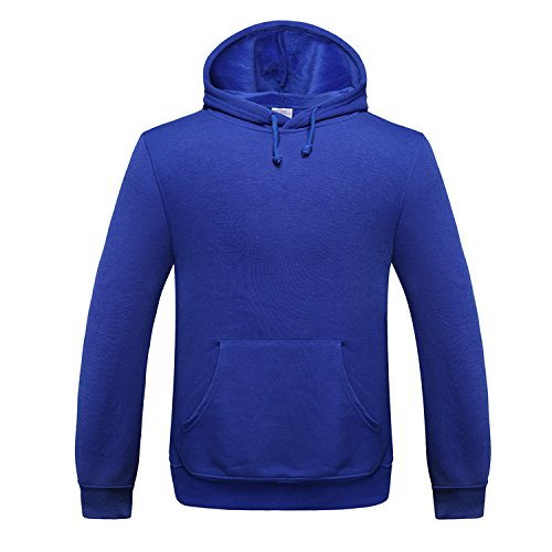 TANG Langärmelige Pullover Sport Baseball Einheitliche Farbe Warmen Pullover Saphir Mit Kapuze Xxxl (Platten-jugend-t-shirt)