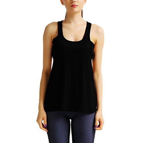 Zhhyizhi mozione Yoga Women Simple Vest Fitness Bodybuilding Sleeveless Tops