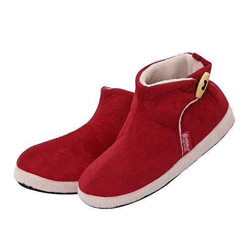 kenroll Zapatillas Botines de Gamuza Antideslizantes Botas Para La Nieve Invierno Interior Casa Calzado Para Mujer QVHxD