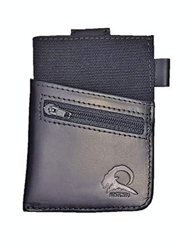 ✅ montcaro portafoglio da uomo - sexy dark - portafoglio piccolo in vera pelle nera con chiusura nfc / rfid per carte credit