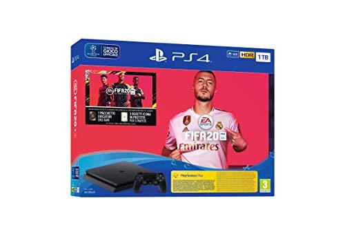 Pack PS4 Slim 1 To F Noir + FIFA 20 + PS Plus 14 jours