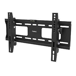 """VonHaus LCD, LED & Plasma Slim TV Wall Tilt Bracket Black Fits Most Models - (23 - 42"""") Load Capacity 75Kg, 10°/ +15° tilt"""