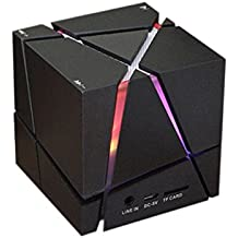 Cubo De Rubik Mini Portátil Bass Altavoz Bluetooth Inalámbrico Multicolor,Black