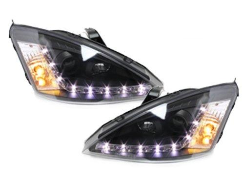 Kitt SWF01AGXB fari Ford Focus 01-04LED DRL nero testa lampada luci diurne