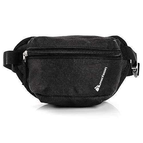 meteor Bauchtasche Damen guerteltasche Herren schwarz Springer Bag huefttasche Leder Handy klein Bauch Tasche (VASA, Schwarz) (Guess Männer, Für Schulter-taschen)