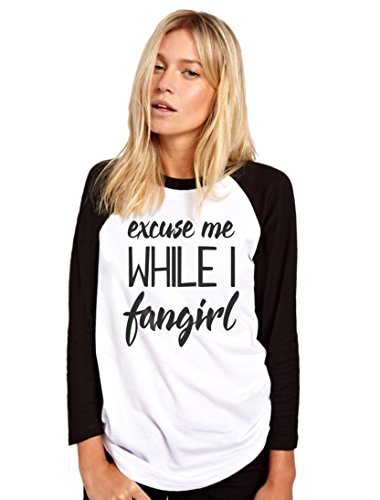 HotScamp Excuse Me While I Fangirl - Youtuber Movie TV Womens Baseball Top