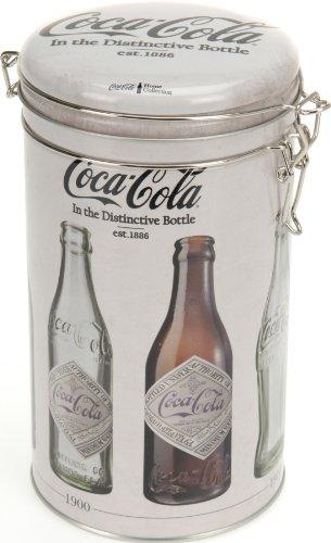 Coca Cola Kaffeedose Aromadose Dekodose Nostalgie Retro Stahlblech 20x11cm creme - weiß