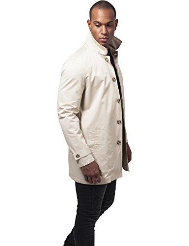 Urban Classics Herren Mantel Gabardine Coat Elfenbein (sand 208)