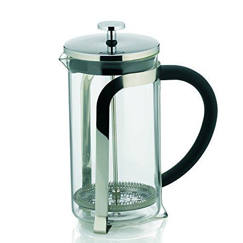 Kela 10852 Kaffeebereiter, 6 Tassen, 1,0 l, Glas/Edelstahl, Venecia