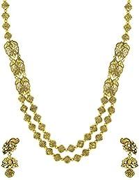 Zaveri Pearls Antique Look Haram Mala Necklace Set For Women - ZPFK5175