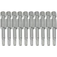 10 piezas de metal gris de 50 mm Longitud de 3 mm Hex cabezal magnético puntas de destornillador