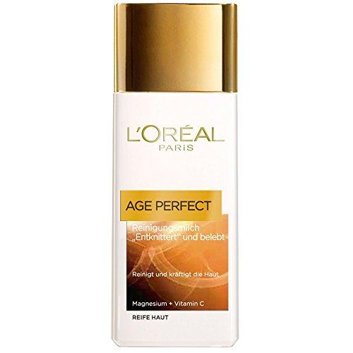 L\'Oreal Paris Age Perfect Reinigungsmilch, reinigt und pflegt die Haut mit intensiver Feuchtigkeit, 200 ml