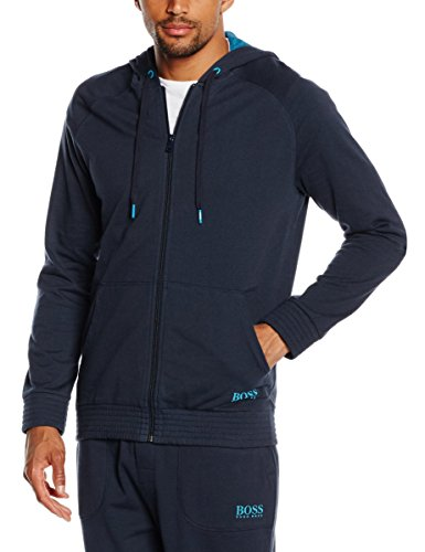 BOSS Hugo Boss Herren Sweatshirt Jacket Hooded, Blau (Dark Blue 407), Small