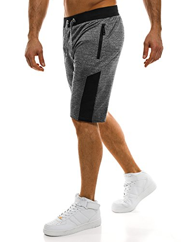 OZONEE Pantaloni Uomo Pantaloncini pantaloncini Pantaloni sportivi Pantaloni per il tempo libero STREET STAR 7129 Grigio scuro