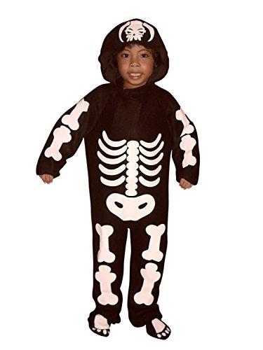 F70/00 Gr. 98-104 Skelett Kostüm für Halloween, Kostüme für Kinder, Faschingskostüm, Karnevalkostüm (Für Gute Gruppen-halloween-kostüme Ideen)